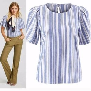 Cabi Wing Top Striped 5343  Women Size Small